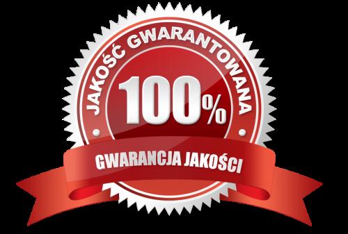 logo jakość gwarantowana 100% gwarancji jakości
